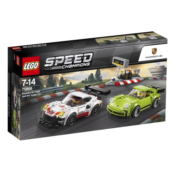 LEGO klotsid Speed Champions Porsche 911 RSR & 911 Turbo