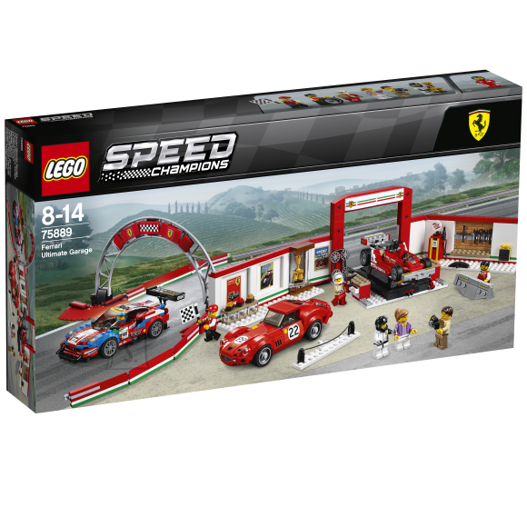 LEGO klotsid Speed Champions Ferrari garaaž