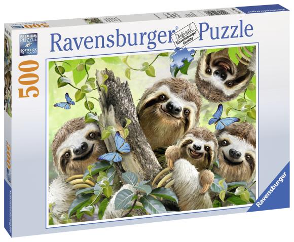 Ravensburger pusle Laiskloomade selfi 500tk