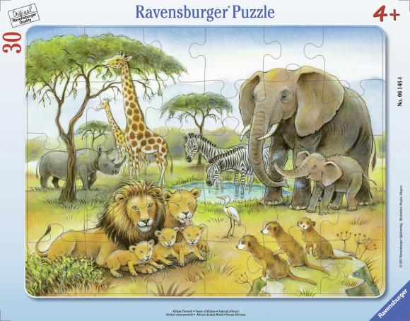 Ravensburger plaatpusle Aafrika loomad 30tk