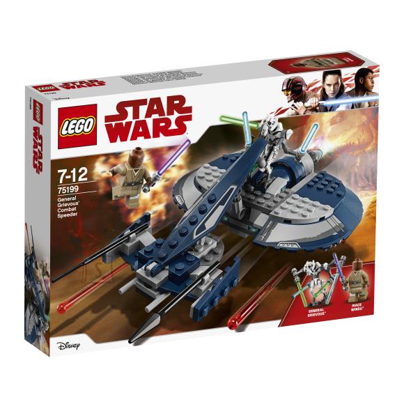 LEGO klotsid Star Wars Kindral Grievous' lahingusõiduki kihutaja
