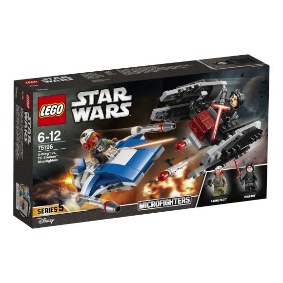 LEGO klotsid Star Wars A-wing™ vs. TIE Silencer™-i mikrovõitlejad