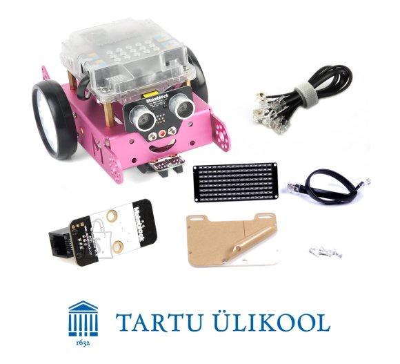 Makeblock Tartu Ülikooli robootika MOOC mBot komplekt roosa