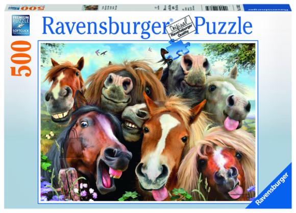 Ravensburger pusle Hobuste selfie 500tk