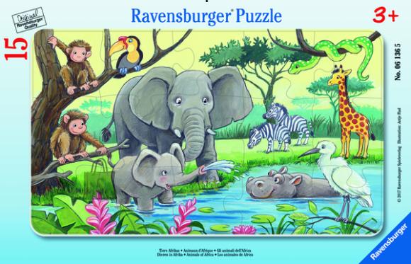 Ravensburger plaatpusle Aafrikaloomad 15tk