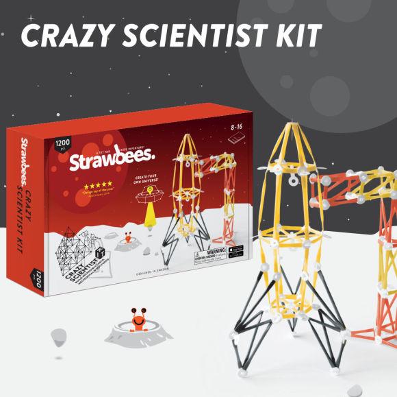 Strawbees hullu teadlase komplekt