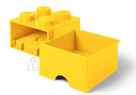 LEGO kollane hoiusahtel 4
