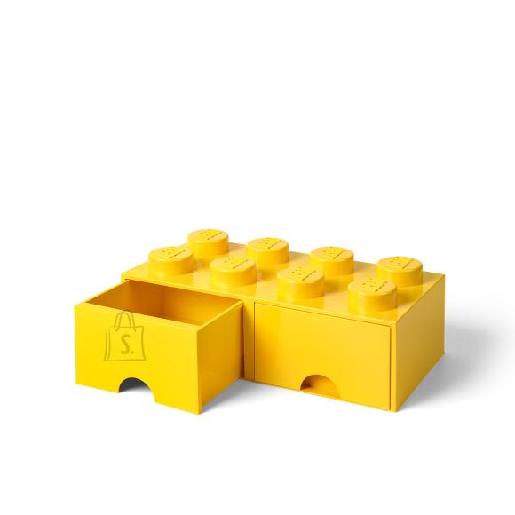 LEGO kollane hoiusahtel 8