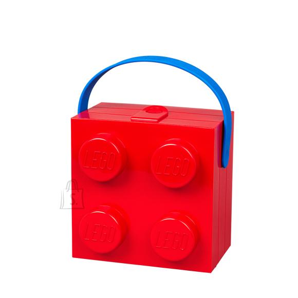 LEGO punane hoiuklots 4 sangaga