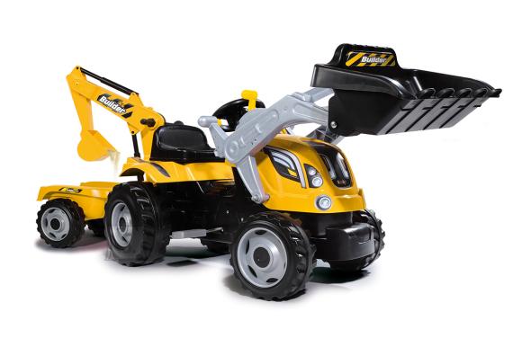 Smoby pedaalidega traktor Builder MAX+käru lastele