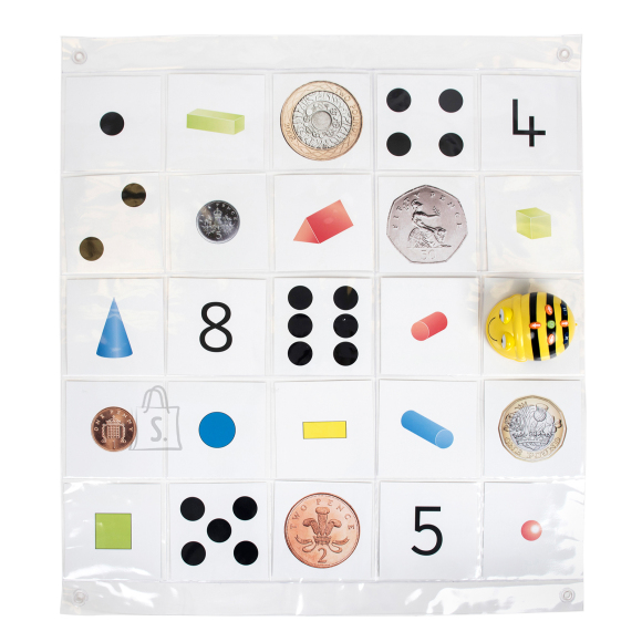 TTS Bee-Bot läbipaistev taskutega matt