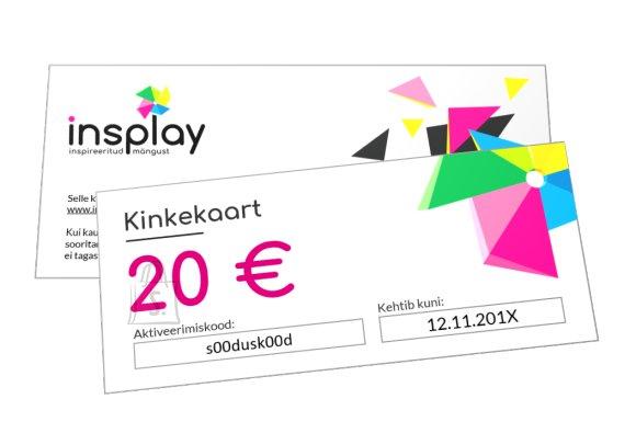 Insplay kinkekaart 20 eurot
