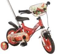 "Disney Cars 10"" lükkesangaga poiste jalgratas"
