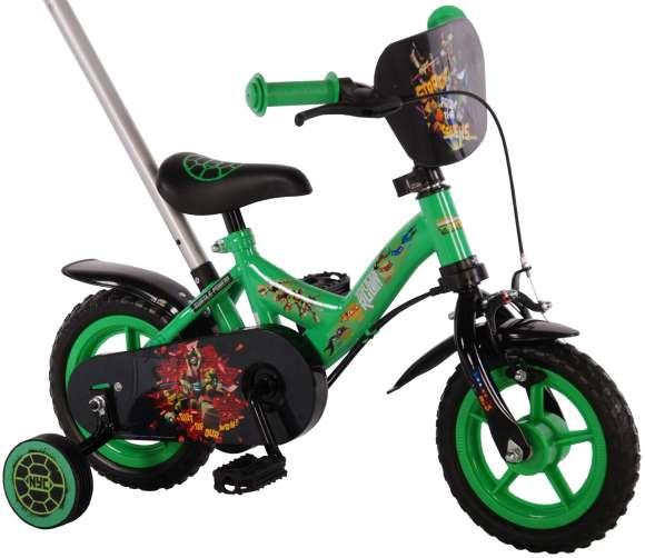 """Turtles 10"""" lükkesangaga poiste jalgratas Teenage Mutant Ninja Turtles"""