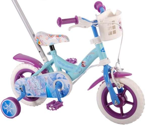 "Disney 10"" lükkesangaga tüdrukute jalgratas Frozen"