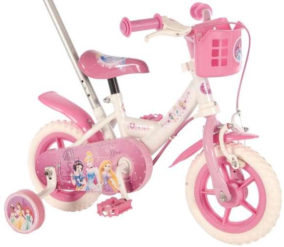 "Disney Princess 10"" lükkesangaga tüdrukute jalgratas"