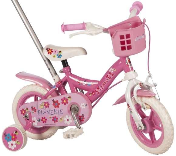 """Yipeeh 10"""" lükkesangaga tüdrukute jalgratas Flowerie"""