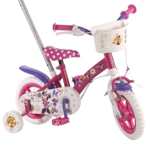 """Disney Minnie 10"""" lükkesangaga tüdrukute jalgratas"""