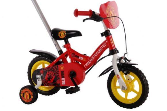 "Manchester United 10"" lükkesangaga poiste jalgratas"