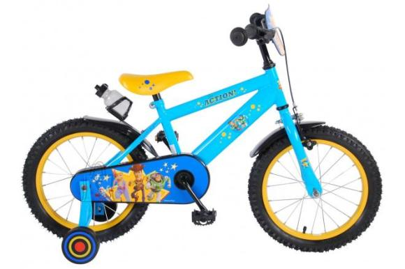 Disney Toy Story Children's Bicycle - Boys - 16 inch - Yellow Blue