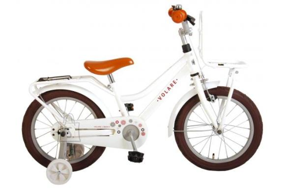 Volare Volare Liberty Children's Bicycle - Girls - 16 inch - White - 95% assembled