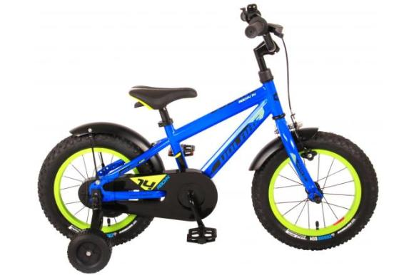Volare Volare Rocky Children's Bicycle - Boys - 14 inch - Blue - 95% assembled - Prime Collection