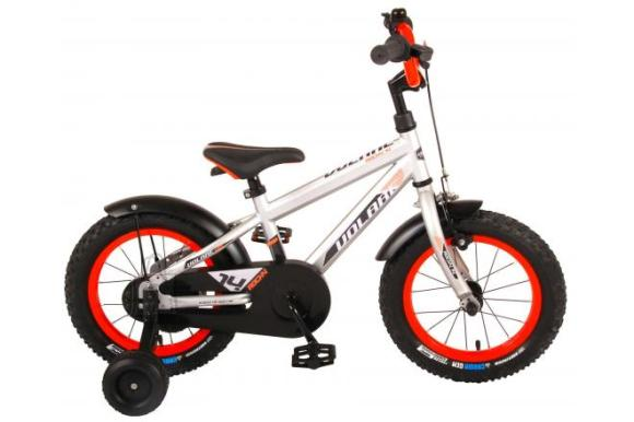 Volare Volare Rocky Children's Bicycle - Boys - 14 inch - Silver - 95% assembled - Prime Collection