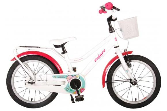 Volare Volare Brilliant Children's Bicycle - Girls - 16 inch - White - 95% assembled