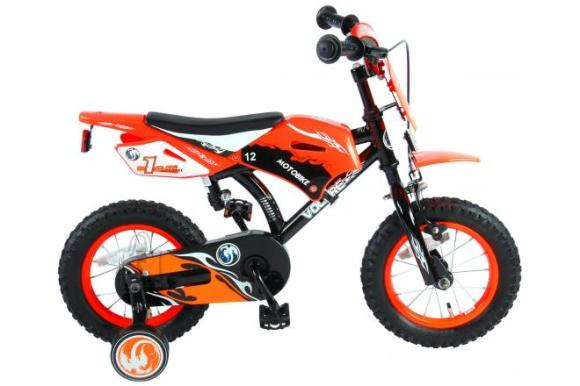 Volare Volare Motorbike Children's Bicycle - Boys - 12 inch - Orange - 95% assembled