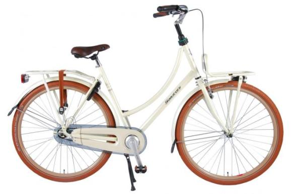 SALUTONI Excellent Adult bike - Women - 28 inch - 50 centimeters - Pearl White - 95% assembled