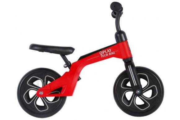 QPlay Tech Balance Bike - Boys and Girls - 10 inch - Red