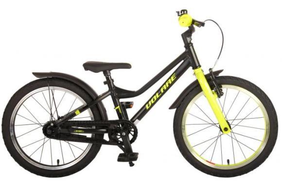 Volare Volare Blaster Children Bicycle - Boys - 18 inch  - Black Green - Prime Collection