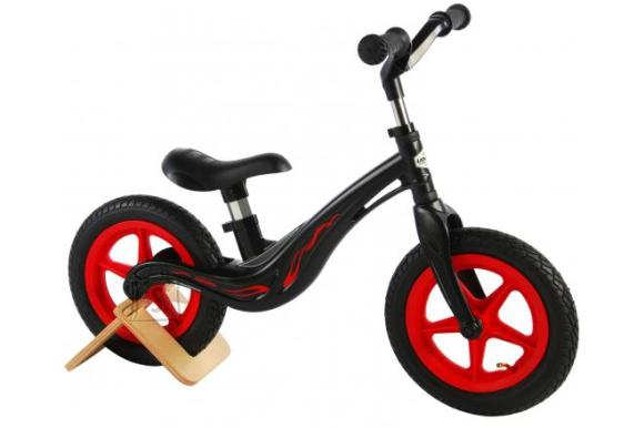 Volare Volare Magnesium Balance Bike - Boys and Girls - 12 inch - Black