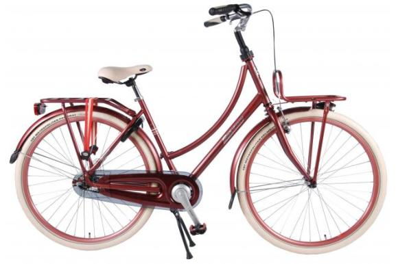 SALUTONI Excellent Adult bike - Women - 28 inch - 50 centimeters - Bordeaux - 95% assembled