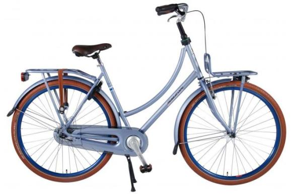 SALUTONI Excellent Adult bike - Women - 28 inch - 50 centimeters - Matt Blue - 95% assembled