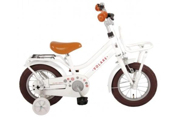 Volare Volare Liberty Children's Bicycle - Girls - 12 inch - White - 95% assembled
