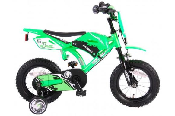 Volare Volare Motorbike Children's Bicycle - Boys - 12 inch - Green - two hand brakes