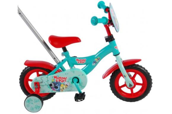 Woezel & Pip Children's Bicycle - Boys - 10 inch - Blue / Red