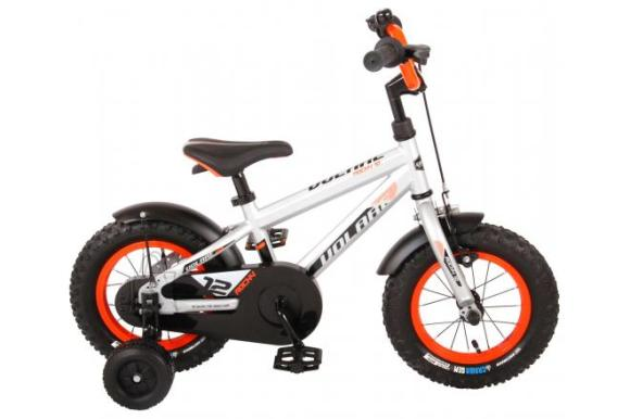 Volare Volare Rocky Children's Bicycle - Boys - 12 inch - Silver -  95% assembled - Prime Collection