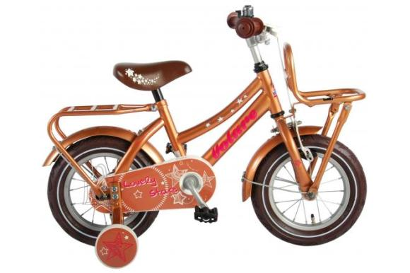 Volare Volare Lovely Stars Children's Bicycle - Girls - 12 inch - Gold - 95% assembled