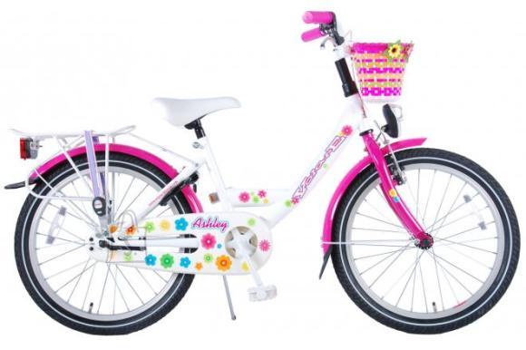 """Volare tüdrukute jalgratas 20"""" valge / roosa"""