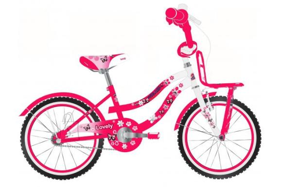 Volare Volare Lovely Children's Bicycle - Girls - 20 inch - Red White