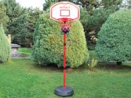 Alusega korvpallilaud + rõngas võrguga + pall + pallipump