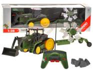Raadioteel juhitav treileriga traktor RC0206