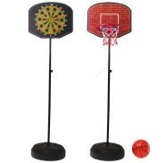 2in1 mängukomplekt korvpall + noolemäng