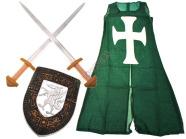 Rüütli varustuse komplekt lastele, 2 mõõgaga