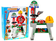 Mängu tööriistakomplekt koos lauaga lastele + kiiver