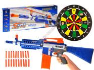 Mängupüstol + 20 vahtpadrunit ja märklaud