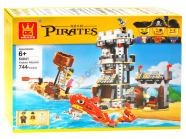 Ehitusklotside komplekt Piraadid, 744 osa