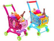 Mängu ostukäru koos tarvikutega